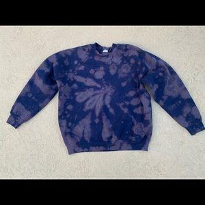 Deep Blue Ombré Tie-dye Crewneck